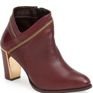 Red Leather Bootie